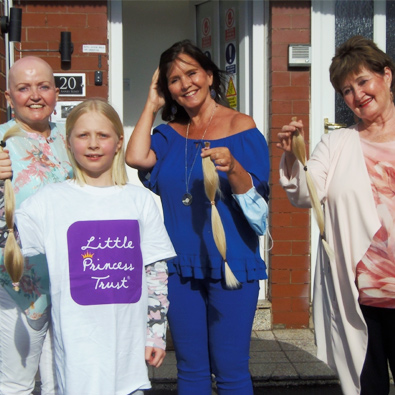 Nolan Sisters support young hair donor