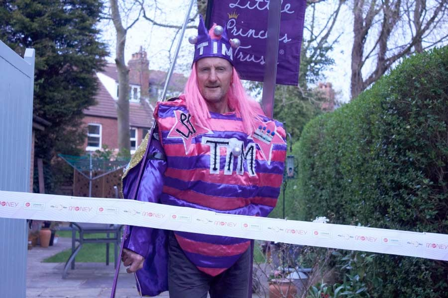 Tim Wheeler is taking on the 2.6 Challenge for The Little Princess Trust.
