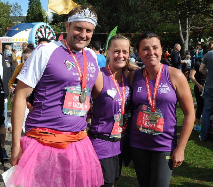A team from The Little Princess Trust took part in the Cardiff Half Marathon last year - runners representing the charity will be in Manchester in May.
